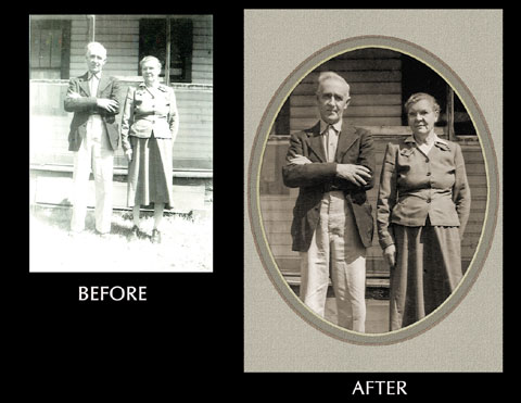Restoration with Oval Vignette