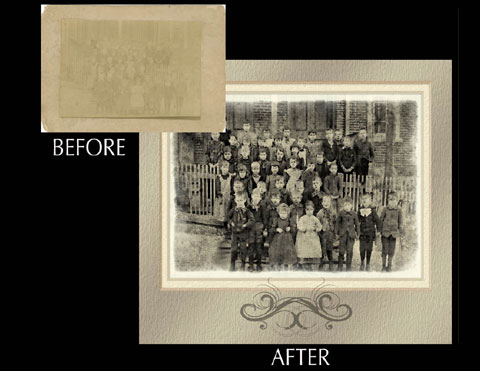 1850's Group Photo Restoration